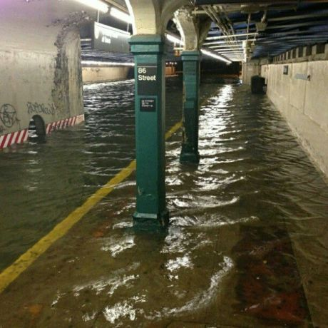 86th Street Subway station flooded – Hurricane Sandy