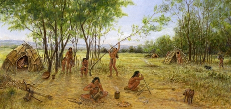 The life of early human communities was defined by nature, not by human activity.