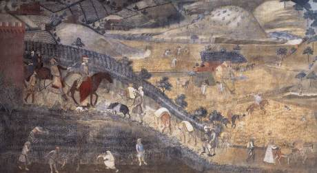 Lorenzetti's fresco in Siena of the effects of good government on the countryside.