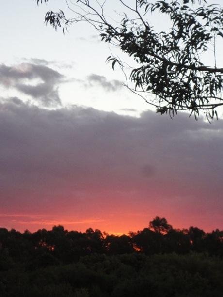 Evening sky at the Estancia Tierra Santa.