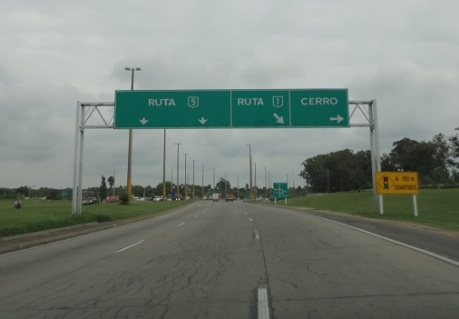Once I made it through Montevideo I could get on Ruta 1, which took me to Colonia.