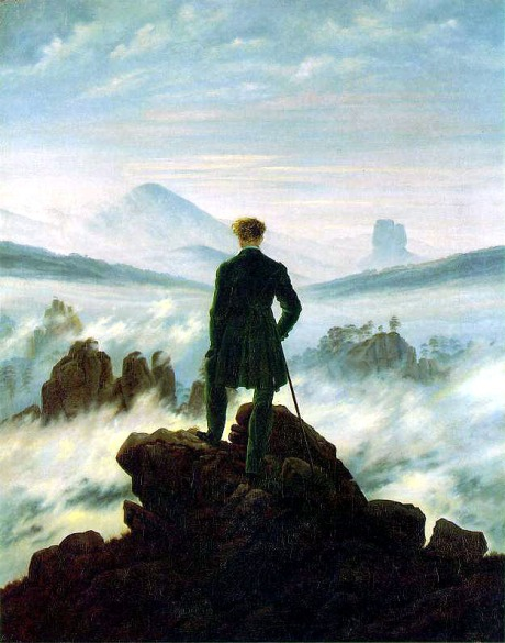 wanderer over a sea of fog