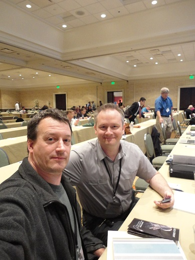 My co-presenter Heath Rezabek and myself on the final day of the Icarus Interstellar Starship Congress.