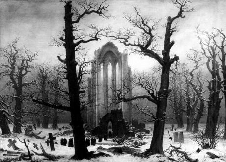 Caspar David Friedrich, Klosterfriedhof im Schnee