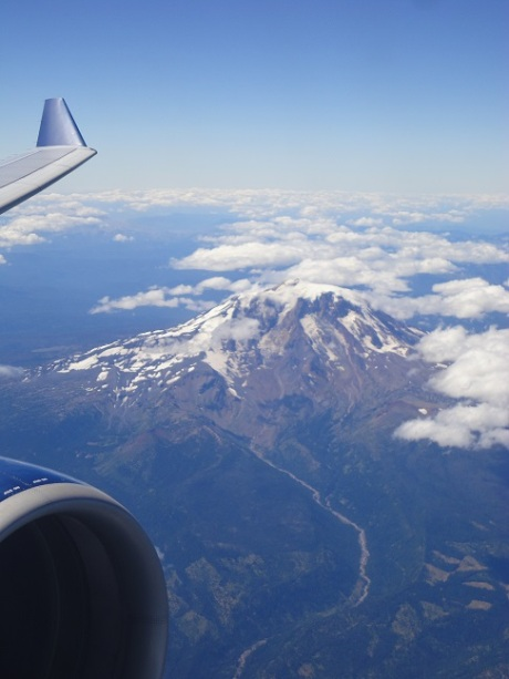 Mount Adams, in Washington, not too far north of Portland.