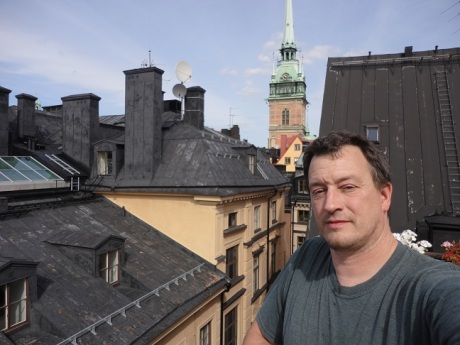 Certainly not the best picture of me, but proof that I made it to Stockholm.