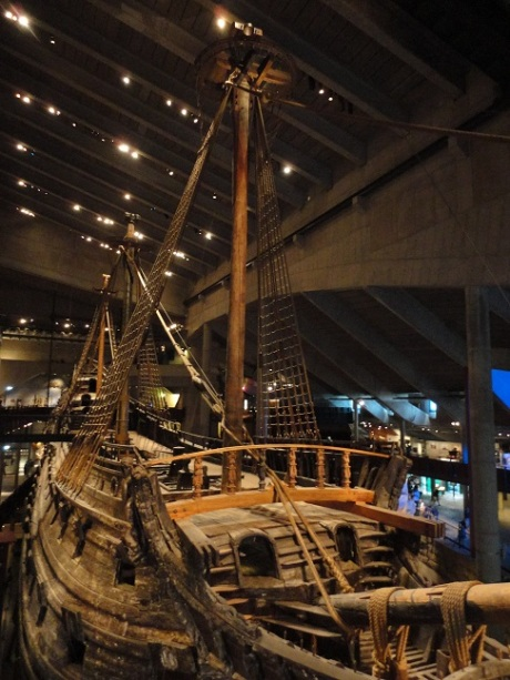 The vasa, disinterred from its watery grave and now proudly displayed despite its initial calamity.