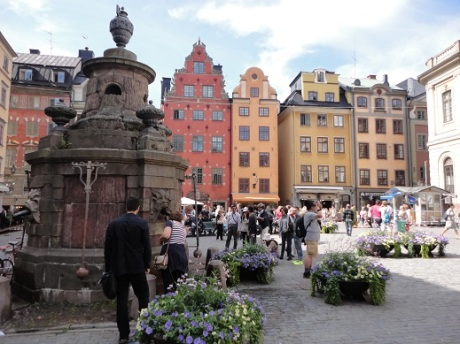 The center of Gamla Stan in Stockholm.