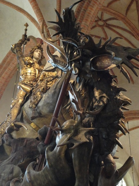 Bernt Notke's Saint George and the Dragon in Stockholm's Storkyrka.