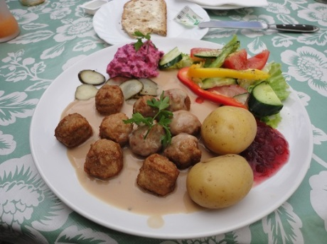 Swedish meatballs in Sweden!