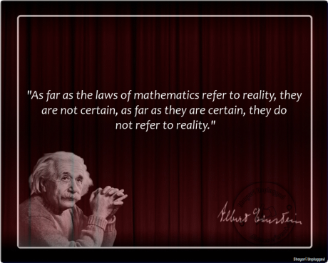 Albert Einstein Quote mathematics reality