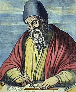 Euclid woodcut 1584