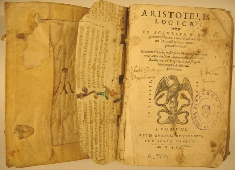 Formal thought begins with Greek mathematics and Aristotle's logic.
