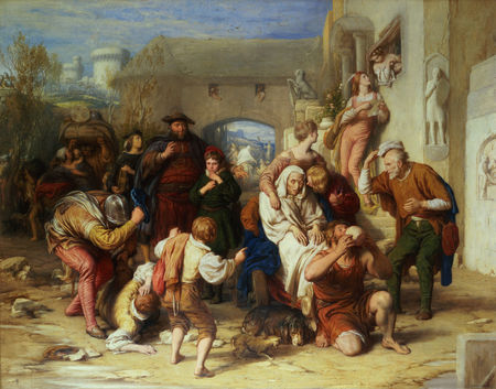 The Seven Ages of Man ('As You Like It', Act II Scene 7), 1838,  William Mulready, born 1786 - died 1863
