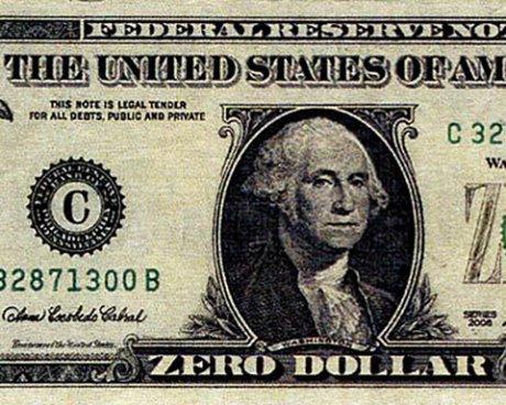 zero dollars