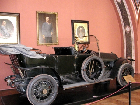 The 1911 Gräf & Stift Double Phaeton in which the Archduke Franz Ferdinand and his wife Sophie were riding at the time of their assassination on 28 June 1914.