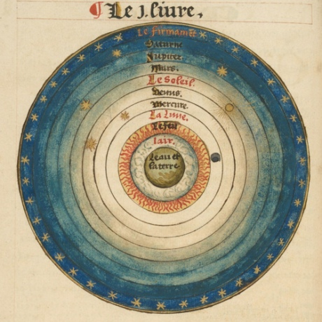 Geocentric Ptolemaic cosmology by Orance Fine (1494-1555)