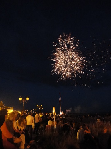 Saintes-Maries-de-la-Mer fireworks display for Bastille Day.