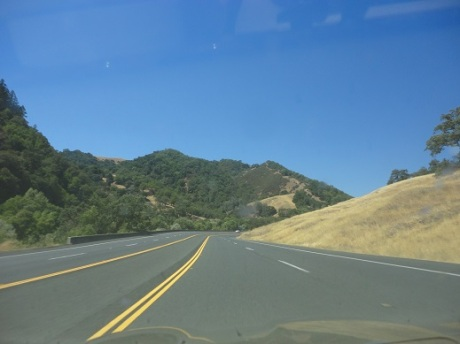 The open road: heading north on 101.