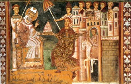 The historical fiction of the Donation of Constantine shaped medieval political thought, notwithstanding the fact that is was a forgery. History is sometimes made of whole cloth.