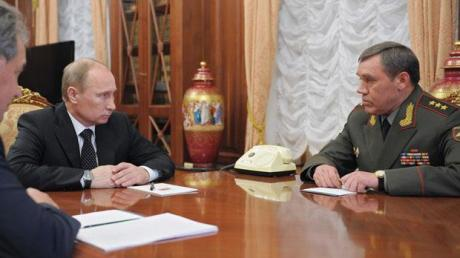 Russian President Vladimir Putin and General Valery Gerasimov