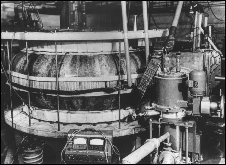 Russian T1 Tokamak at the Kurchatov Institute in Moscow.