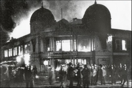 1981 Toxteth riot in Liverpool