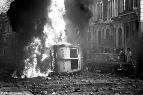 Toxteth riot in Liverpool