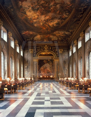 The dining hall of which Clark wrote, often called The Painted Hall.