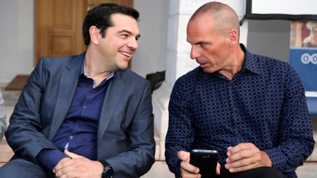 Greek PM Alexis Tsipras and Finance Minister Yanis Varoufakis