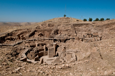 Göbekli Tepe, where large-scale social organization may have preceded both agriculturalism and pastoralism.