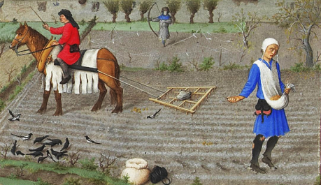 Settled agriculturalism in the European Middle Ages.