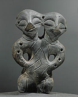 Vinca-Plocnik Culture, Late Mesolithic (5th mill. BC). (Photo Credits: Carlos Mesa) Double-Headed figure, Cayonu, Turkey.