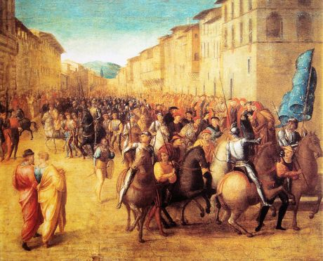 French troops under Charles VIII entering Florence, 17 November 1494, by Francesco Granacci.