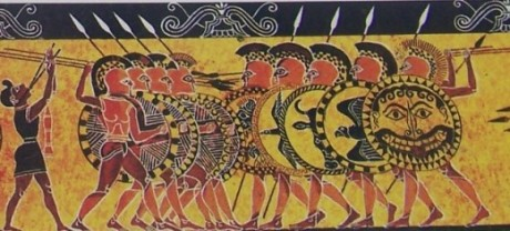 hoplites in battle