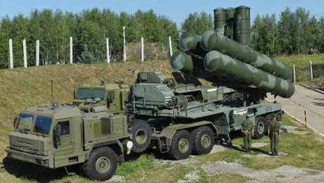 The S-400 Triumf (Russian: C-400 «Триумф»; NATO reporting name: SA-21 Growler), previously known as S-300PMU-3, is a new generation anti-aircraft weapon system developed by Russia's Almaz Central Design Bureau as an upgrade of the S-300 family. (from Wikipedia)