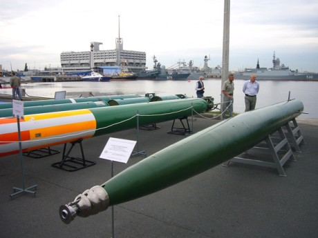 The VA-111 Shkval (Russian: шквал) torpedo and its descendants are supercavitating torpedoes developed by the Soviet Union. They are capable of speeds in excess of 200 knots (370 km/h). (from Wikipedia)