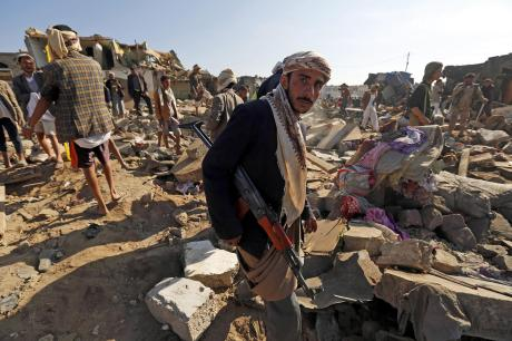 Yemen in the aftermath of the Saudi bombing campaign.