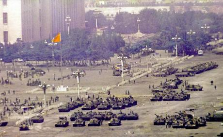 The photograph above of Tiananmen Square in 1989 is from Carl Bildt's Tweet on the anniversary.