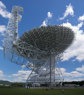 The Green Bank Radio Telescope in West Virginia -- a radio telescope with an uncertain future.