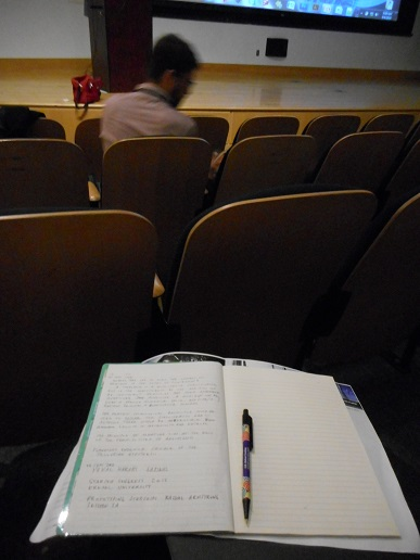 Taking notes at Starship Congress 2015.