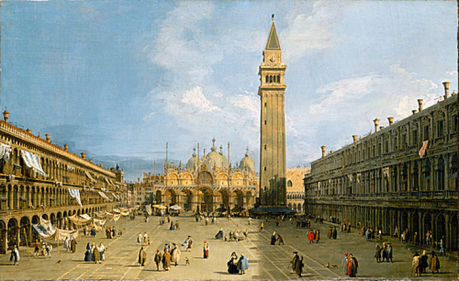 A view of Venice by Canaletto.