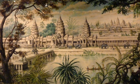 Angkor Wat from Voyage d'exploration en Indo-Chine by Francis Garnier, with illustrations by Louis Delaporte (1873).