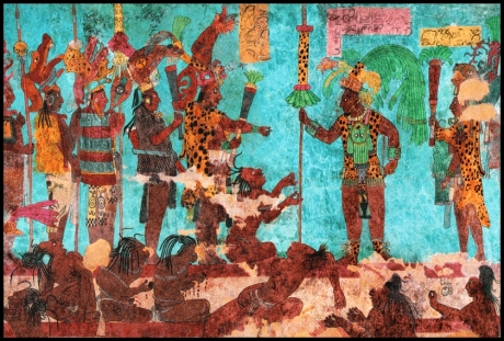 Mayan mural from Bonampak.