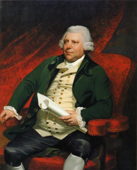 Sir Richard Arkwright, oil on canvas, Mather Brown, 1790. New Britain Museum of American Art
