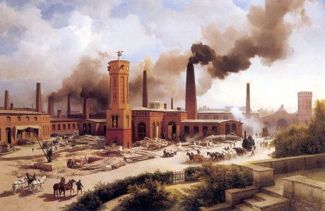 Ironworks Borsig, Berlin, 1847, by Karl Eduard Biermann (1803–1892)