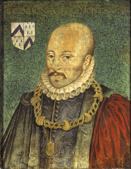 Portrait of Michel Eyquem de Montaigne (1533–1592) by Daniel Dumonstier, around 1578.