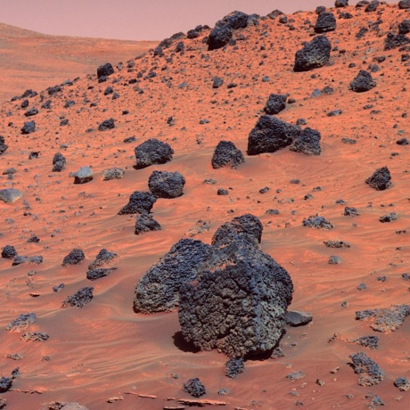 Sometimes the surface of Mars looks strangely familiar, and at other times profoundly alien.