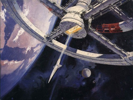 The iconic space station featured in 2001: A Space Odyssey was an elaboration of von Braun's wheel space station.