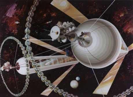 Gerard K. O'Neill's conception of a spacefaring civilization with current technology was widely discussed, but never funded.